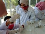 Aktifitas Pembuatan Cairan Pembersih Tangan Dosen FKIP UMRAH