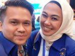 Balon Wakil Walikota Batam, Osco Saat Foto Bersama Bupati Karawang, Cellica Nurrachadiana Ketika Acara Kongres Partai Demokrat di Jakarta Pada 15 Maret 2020 lalu