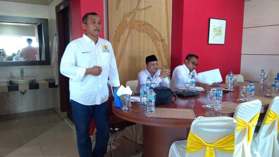 ACP saat rapat menjelang Muskot Luar Biasa Kadin Kota Tanjungpinang