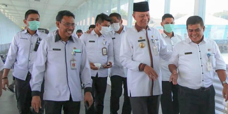 Kepala Dinas Kesehatan Kota Tanjungpinang, Rustam Saat Bersama Walikota Tanjungpinang, Syahrul