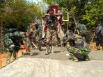 TNI-POLRI terus bekerja dalam program TMMD ke-107 Kodim 0315/Bintan di Tanjung Siambang