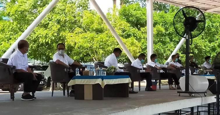 Wali Kota Batam HM Rudi Didampingi OPD Saat Konferensi Pers