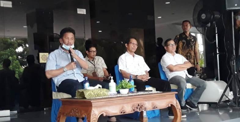 Walikota Batam, H Muhammad Rudi Saat Konferensi Pers