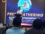 Walikota Batam, Muhammad Rudi Saat Menyampaikan Sambutannya Diacara Press Gathering