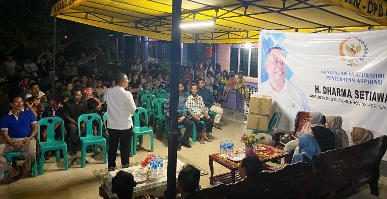 H Dharma Saat Silaturahmi Dengan Masyarakat