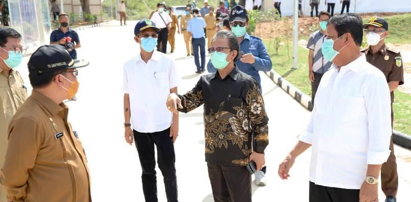 Ketua DPRD Kepri, Jumaga Saat Bersama Plt Gubernur Kepri, Isdianto