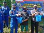 Kasatpolair Polres Tanjungpinang, Iptu Ardian SH Bersama Anggota Saat Kegiatan Ketahanan Pangan