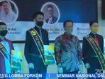 Mahasiswa FKIP UMRAH yang berhasil meraih juara lomba LMN