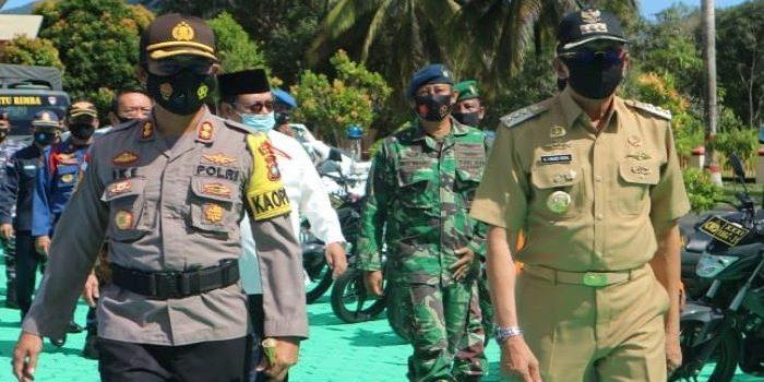 Bupati Natuna saat menghadiri acara di Polres Natuna
