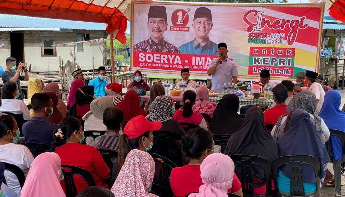 Calon Wakil Gubernur Kepri Nomor Urut 1, Iman Sutiawan Saat Silaturahmi Dengan Warga Pulau Galang