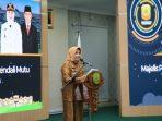 Wali Kota Tanjungpinang, Rahma Saat Menyampaikan Sambutannya Sebelum Penyerahan DPPA SKPD