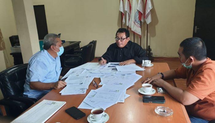 Ketua SMSI Pusat, Firdaus Saat Menerima Kunjungan Ketua Kopsa Makmur