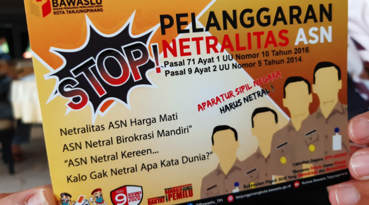 Spanduk Stop Pelanggaran Netralitas ASN
