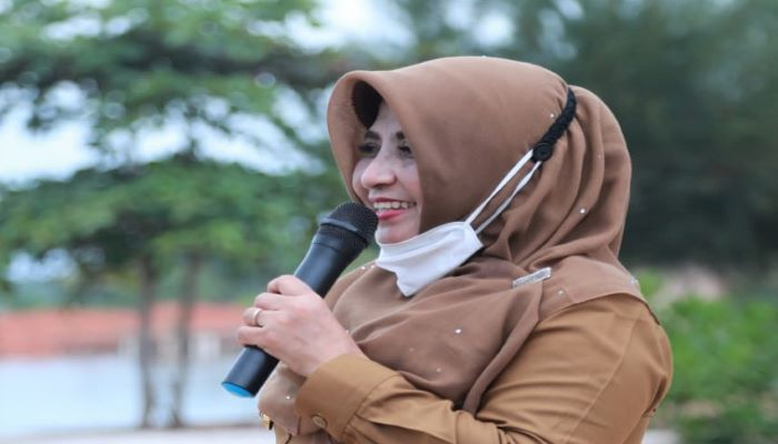 Wali Kota Tanjungpinang, Hj Rahma Saat Menyampaikan Sambutannya Diacara Family Gathering Himpaudi