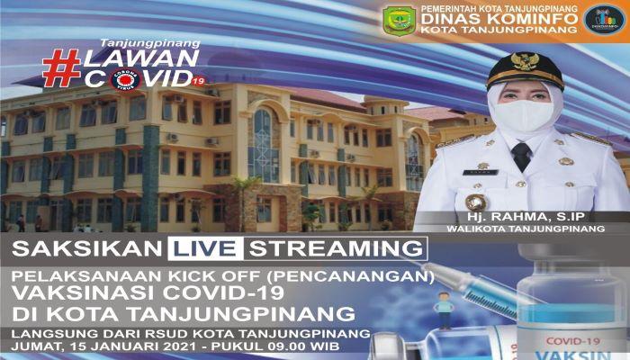 Brosur Pemberitahuan Jadwal Live Streaming Vaksinansi Covid 19