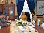 Hj Ngesti Yuni Suprapti saat menerima kunjungan Pengurus Pimpinan Daerah Pemuda Muhammadiyah Kabupaten Natuna
