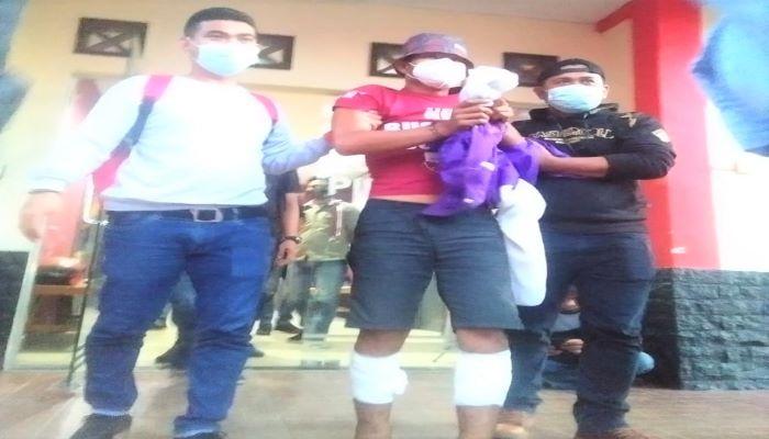 Pelaku Yang Diduga Membunuh Korban Reni Saat Di Mapolres Tanjungpinang