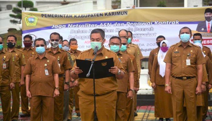 Suasana Himbauan Netralitas ASN dan Honorer