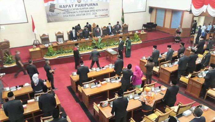 Suasana Paripurna Pelantikan Wakil Ketua III DPRD Kota Batam