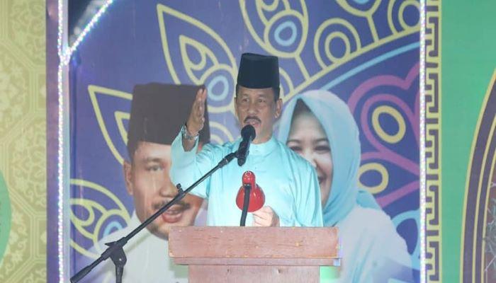 Wali Kota Batam, Muhammad Rudi Saat Mernyampaikan Sambutannya Diacara STQ Seibeduk