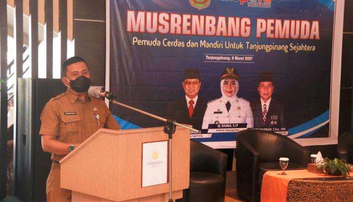 Kadispora Kota Tanjungpinang, Agustiawarman Saat Membuka Musrenbang Pemuda