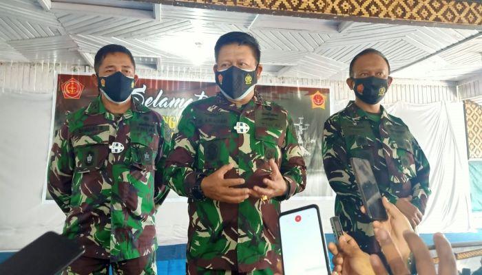 Pangkogabwilhan I, Laksamana Madya I Nyoman Gede Ariawan saat di konfirmasi sejumlah wartawan