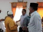 Pimpinan DPRD Natuna saat menyambut kedatangan Tim 9