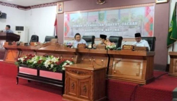 Tiga pimpinan DPRD Natuna menghadiri audiensi