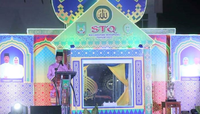 Wali Kota Batam, Rudi Saat Pembukaan STQ Tingkat Kecamatan Sekupang