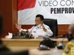 Gubernur Kepri, H Ansar Ahmad Saat Rapat