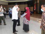 Wali Kota Batam, Muhammad Rudi Saat Acara Purna Tugas ASN Pemko Batam