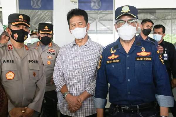 Wali Kota Batam, Muhammad Rudi Saat Bersama Menhub Budi