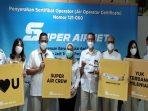 Crew SUPER AIR JET Foto Bersama